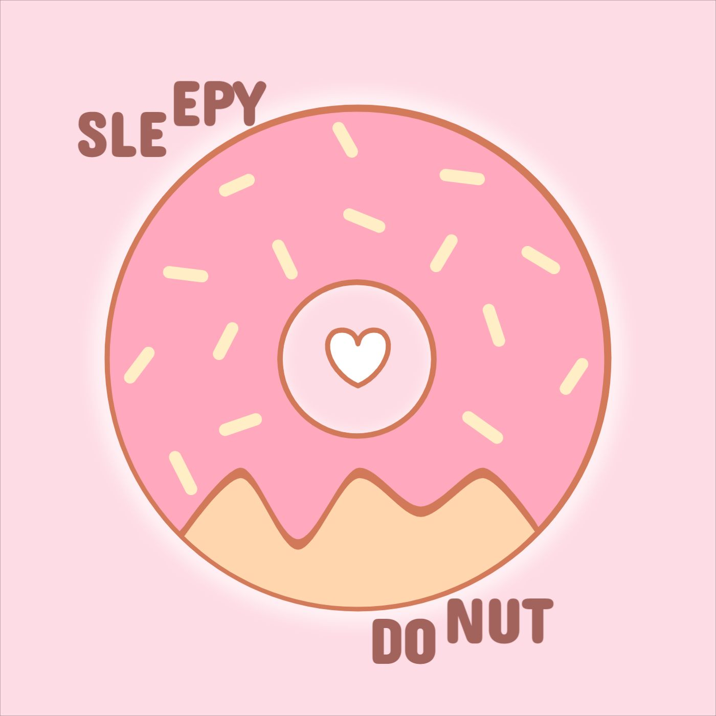 Pillow Design Template with Donut