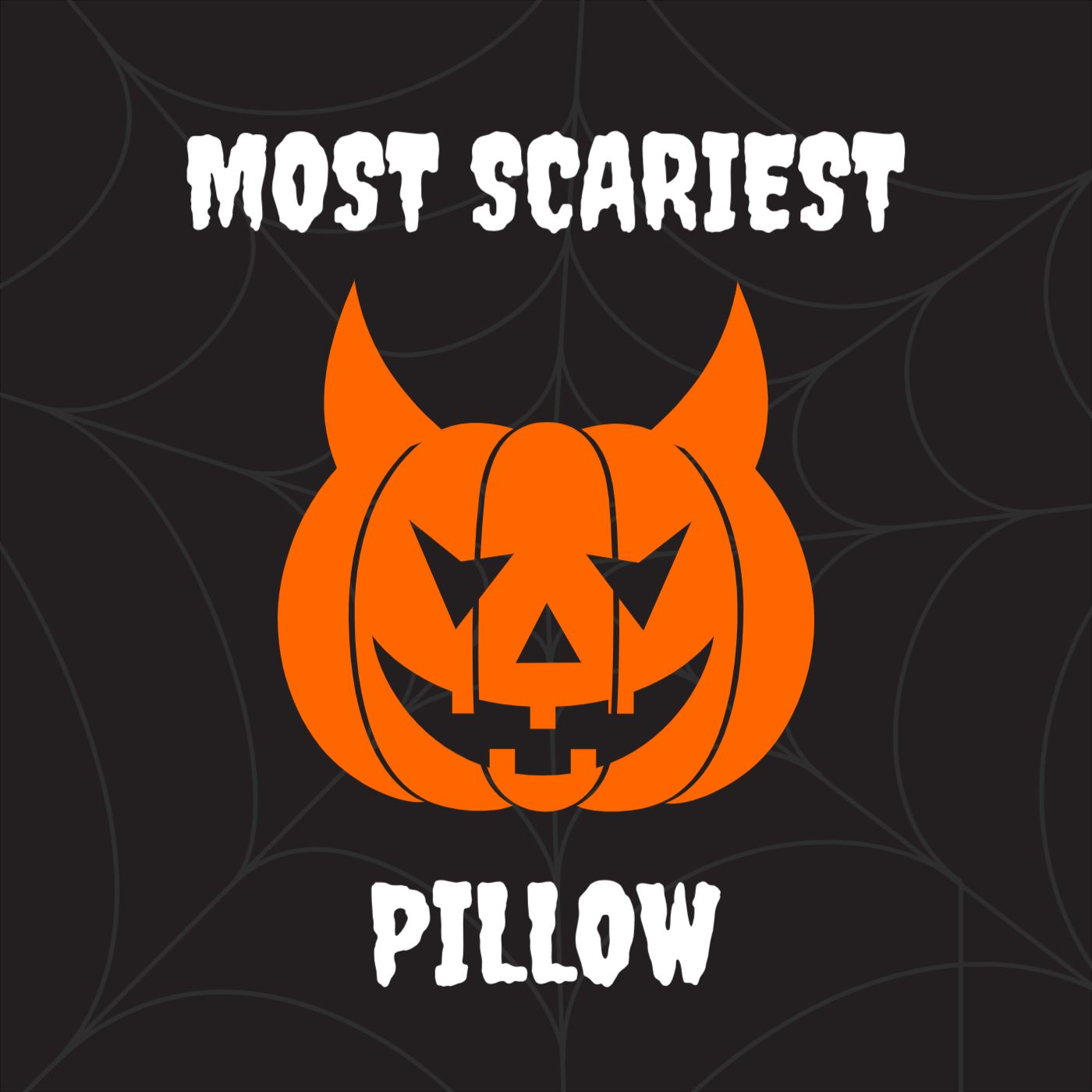 Most Scariest Pillow Template Design