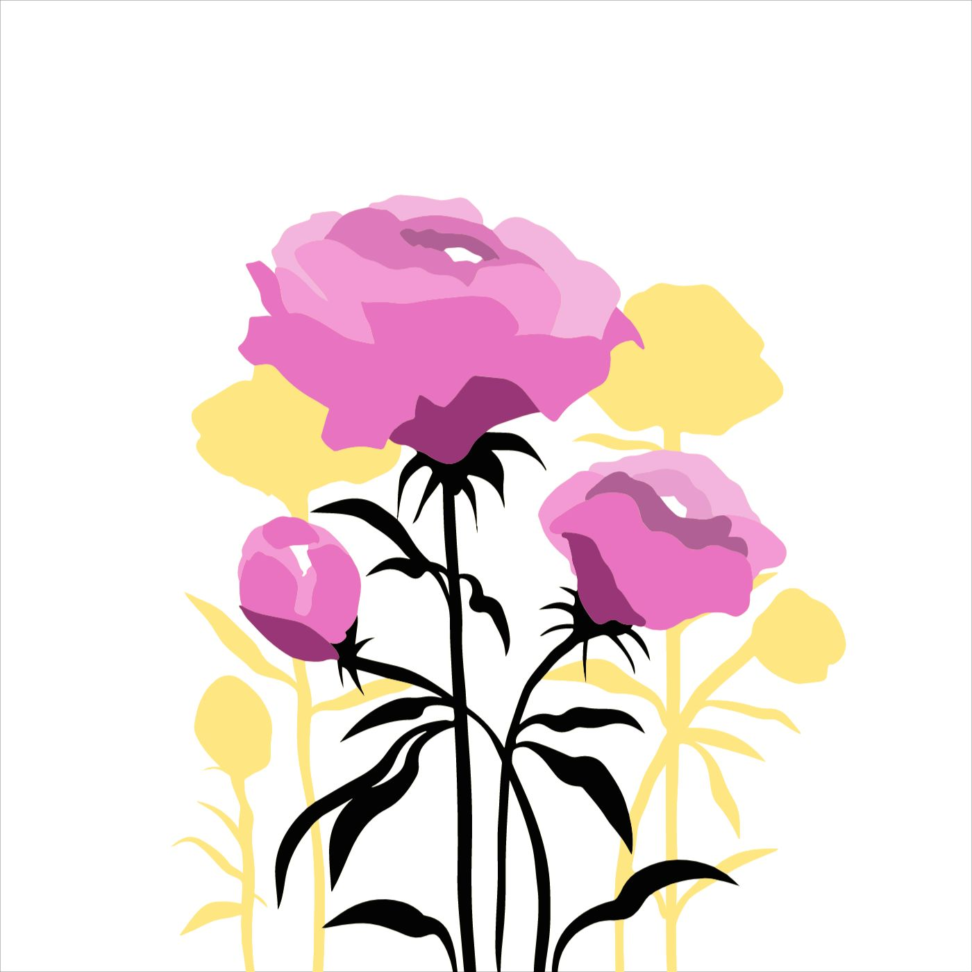 Peony Pillow Case Template