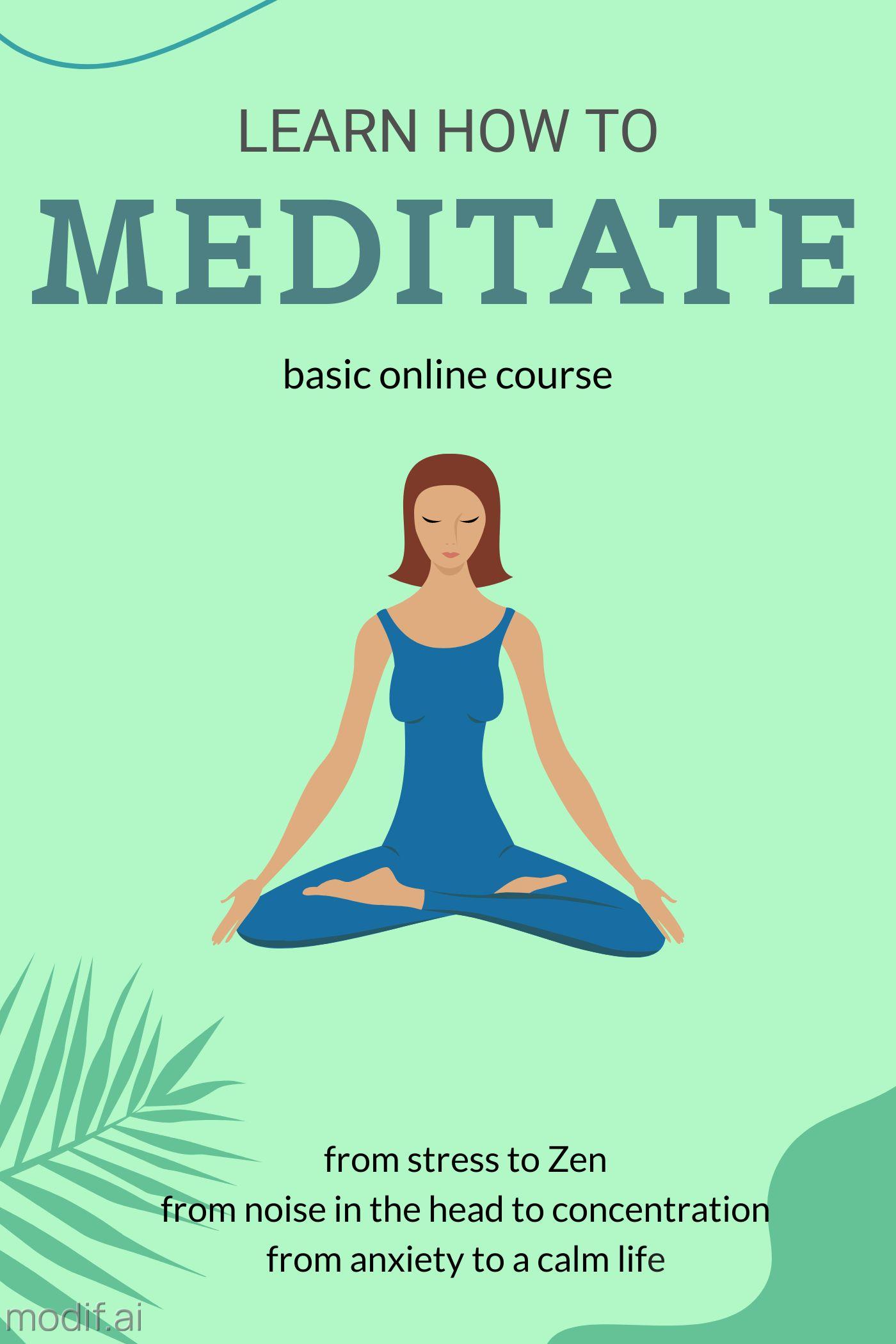 Online Meditation Course Template