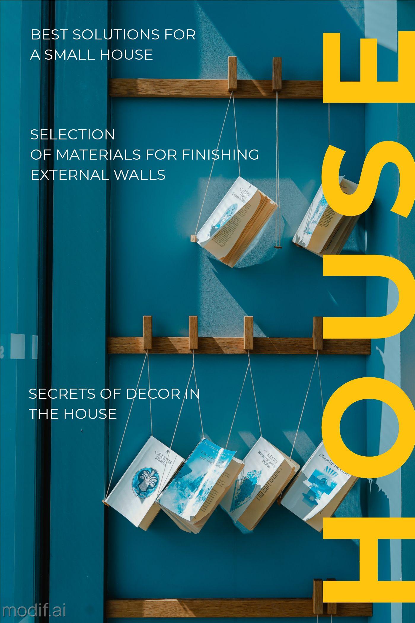 Interior Magazine Cover Template in Blue