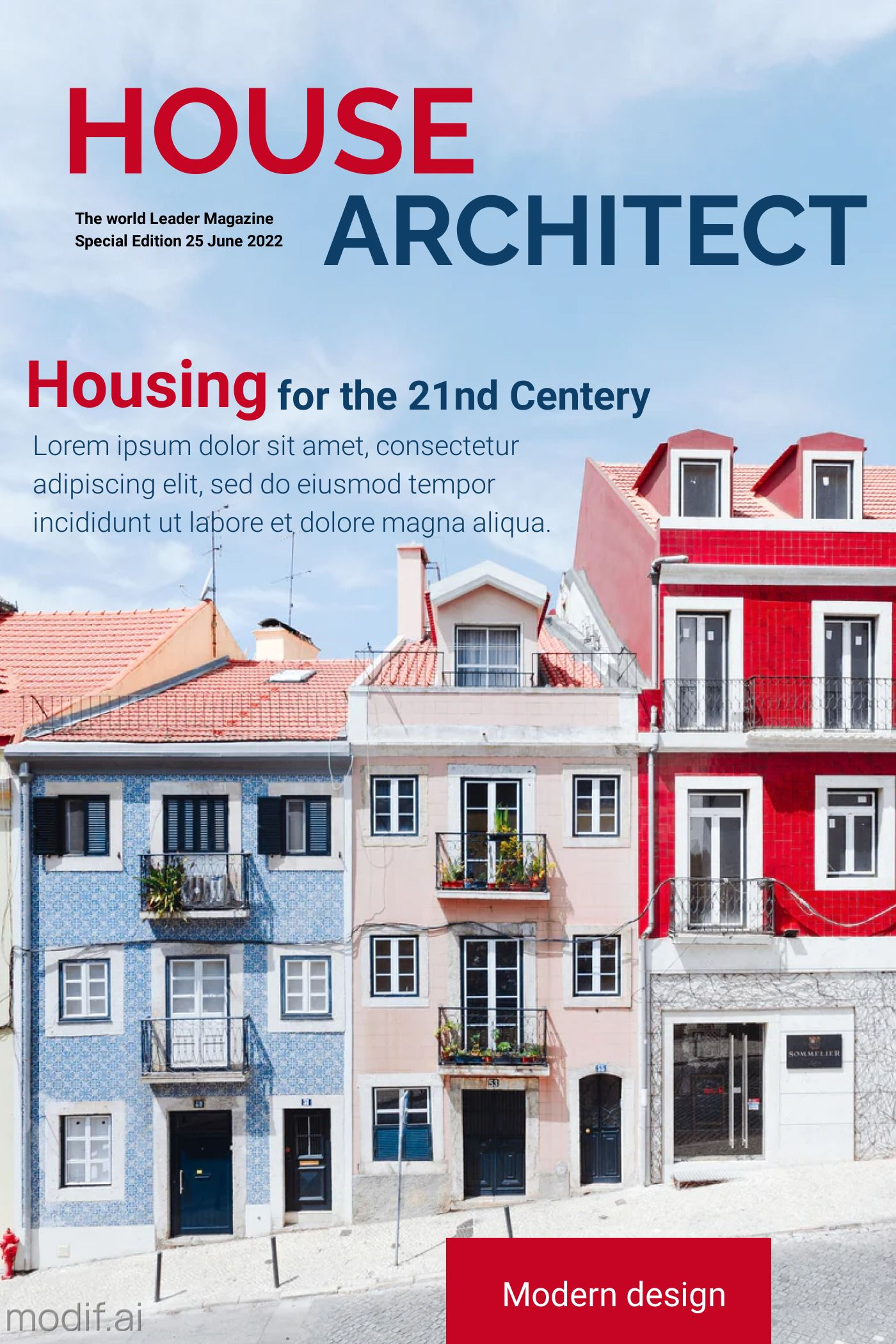 Magazine Cover House Architect Template