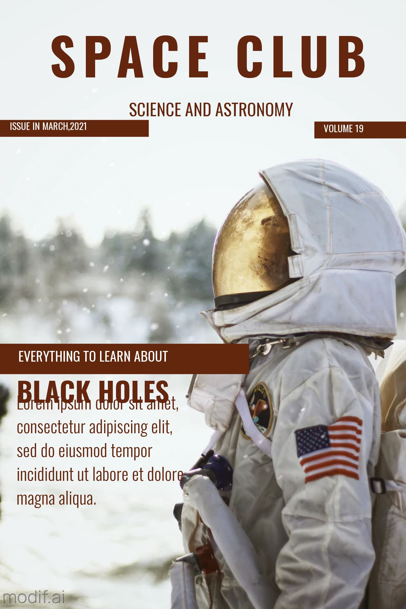 Magazine Cover Space Club Template