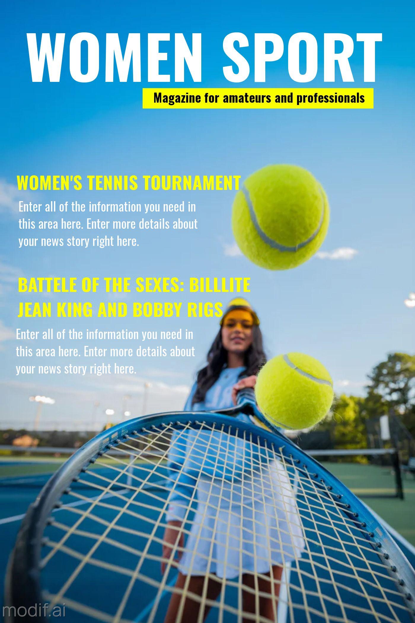 Magazine Cover Women Sport Template