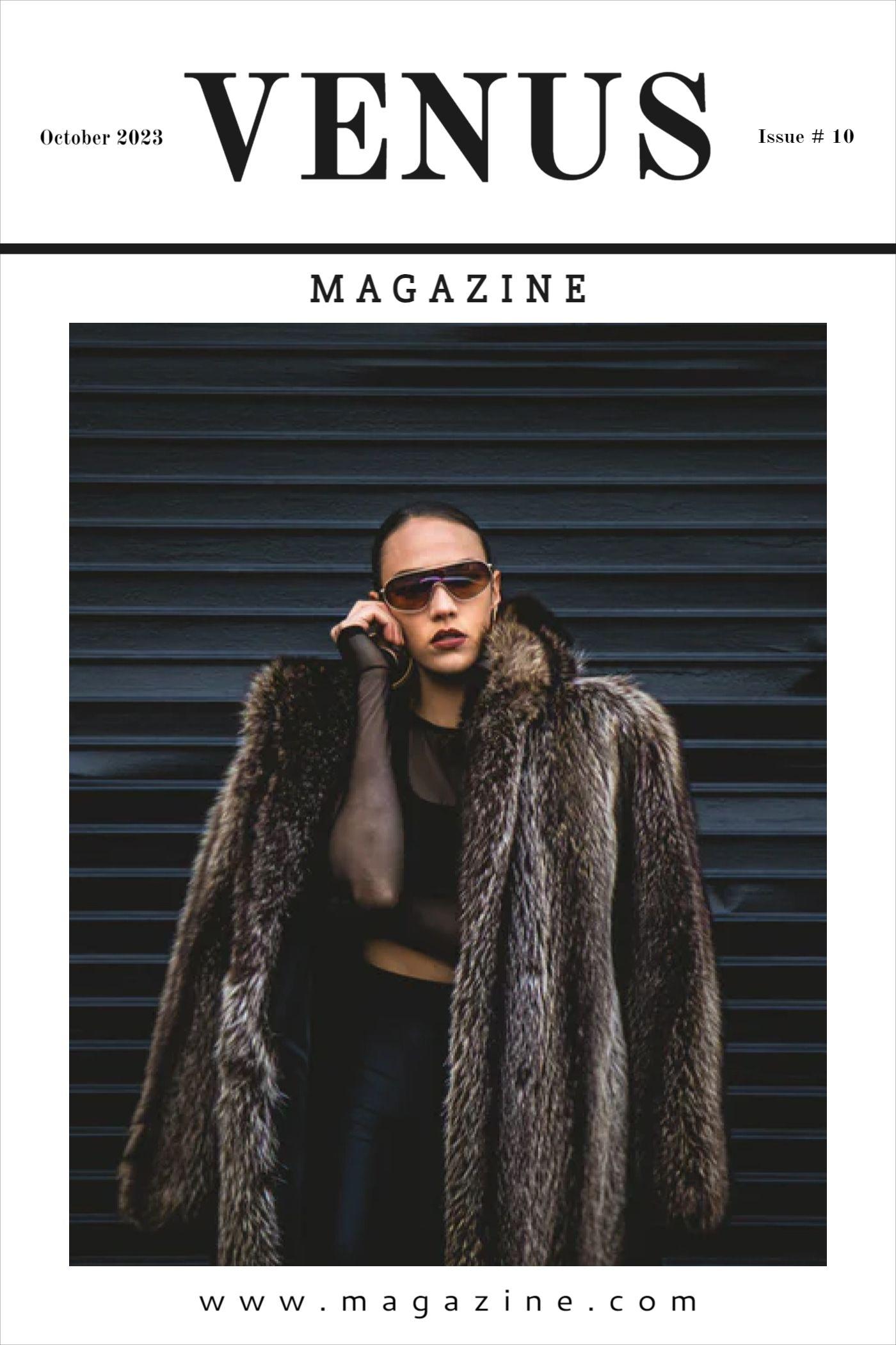 Venus Magazine Cover Template
