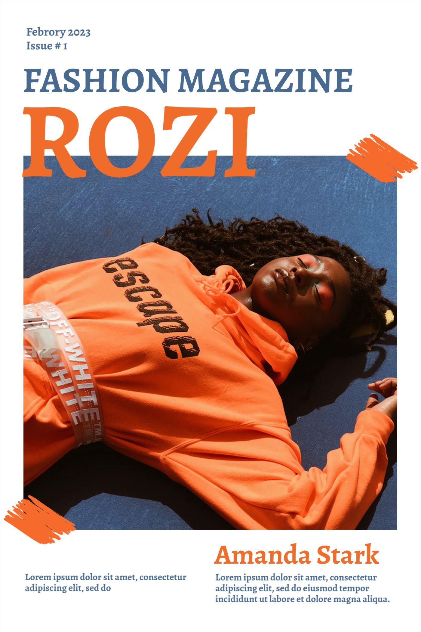 Rozi Fashion Magazine Template