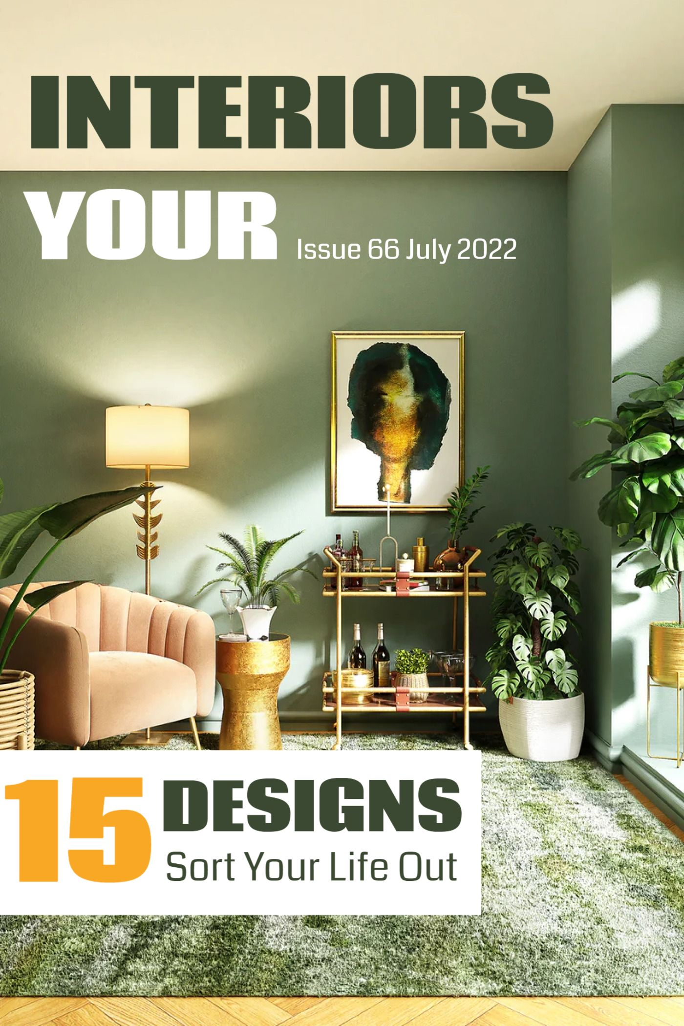 Your Interiors Magazine Cover Template