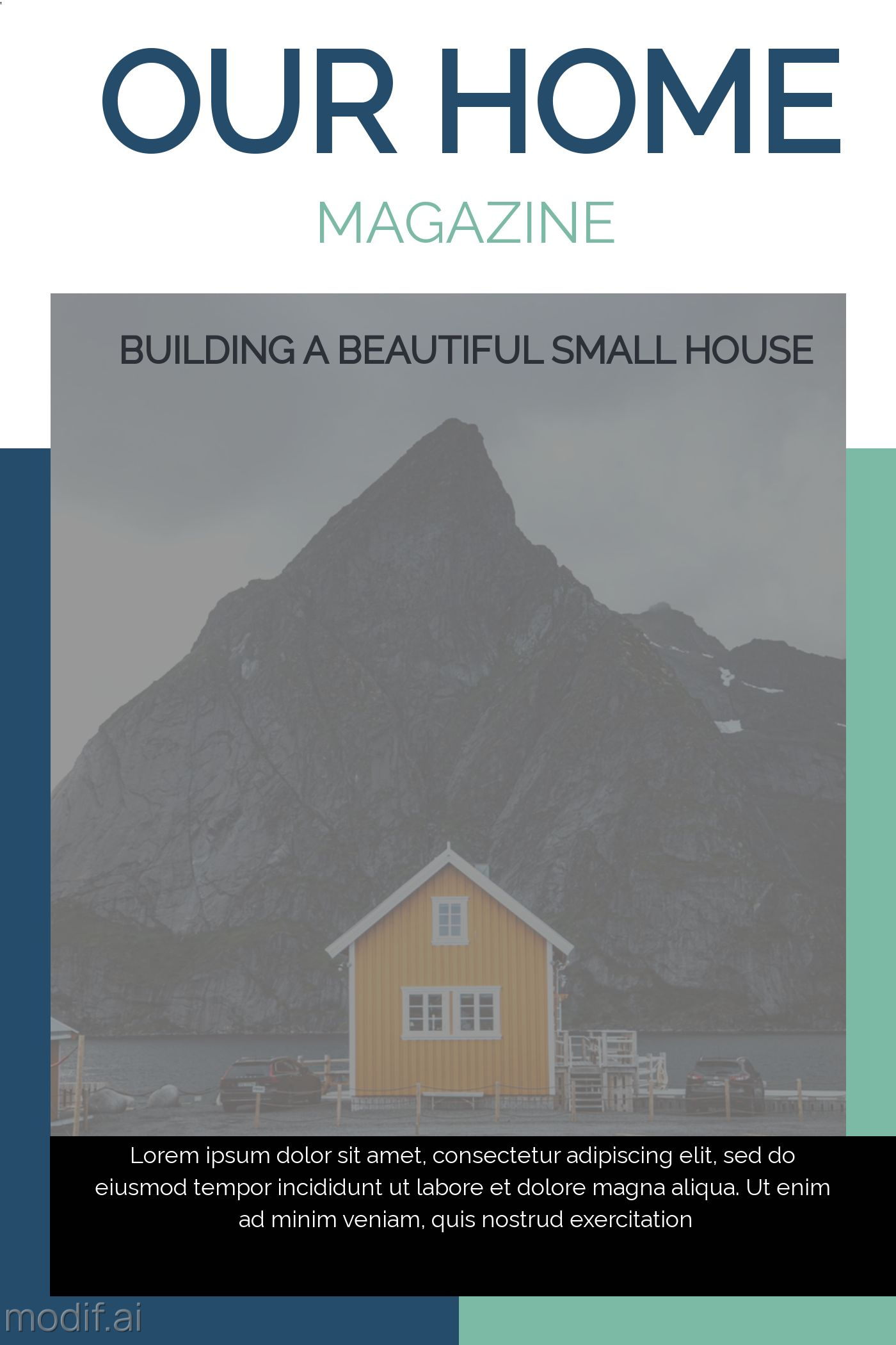 Our Home Magazine Cover Template