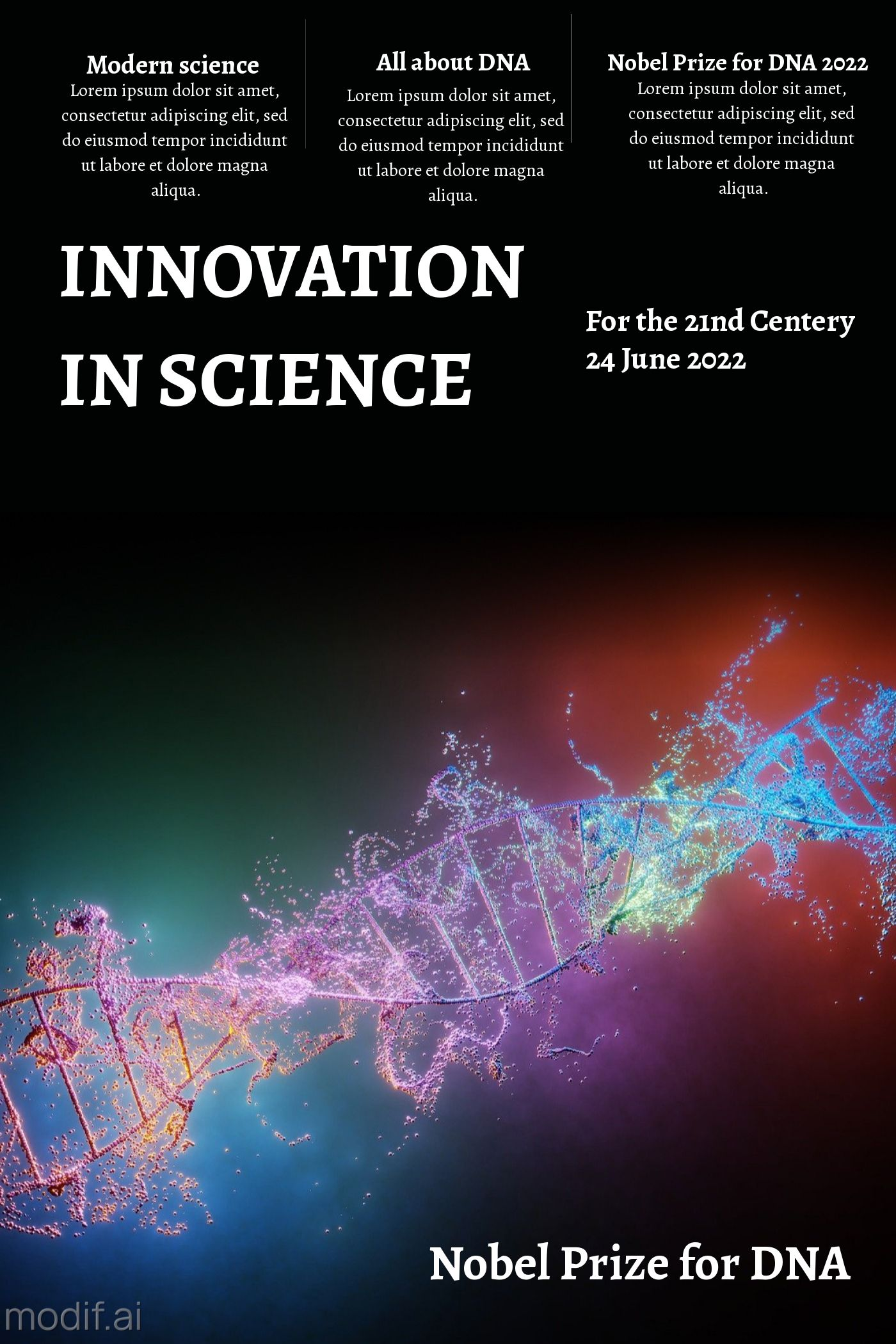 Innovation In Science Template Design