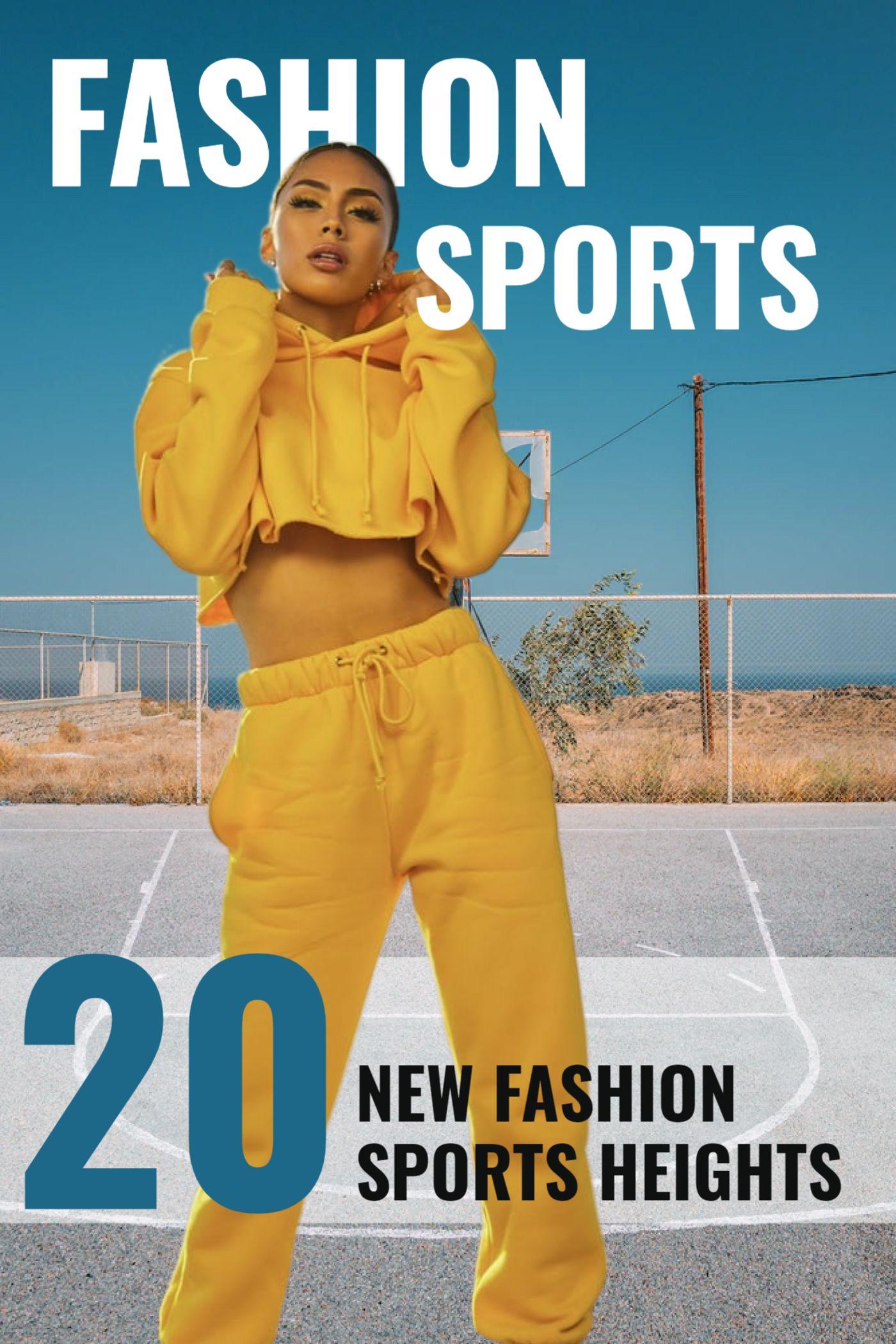 Fashion Sport Magazine Cover Template Design