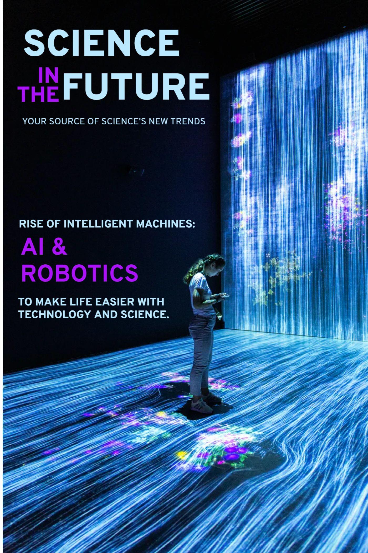 Science Future Magazine Cover Template Design