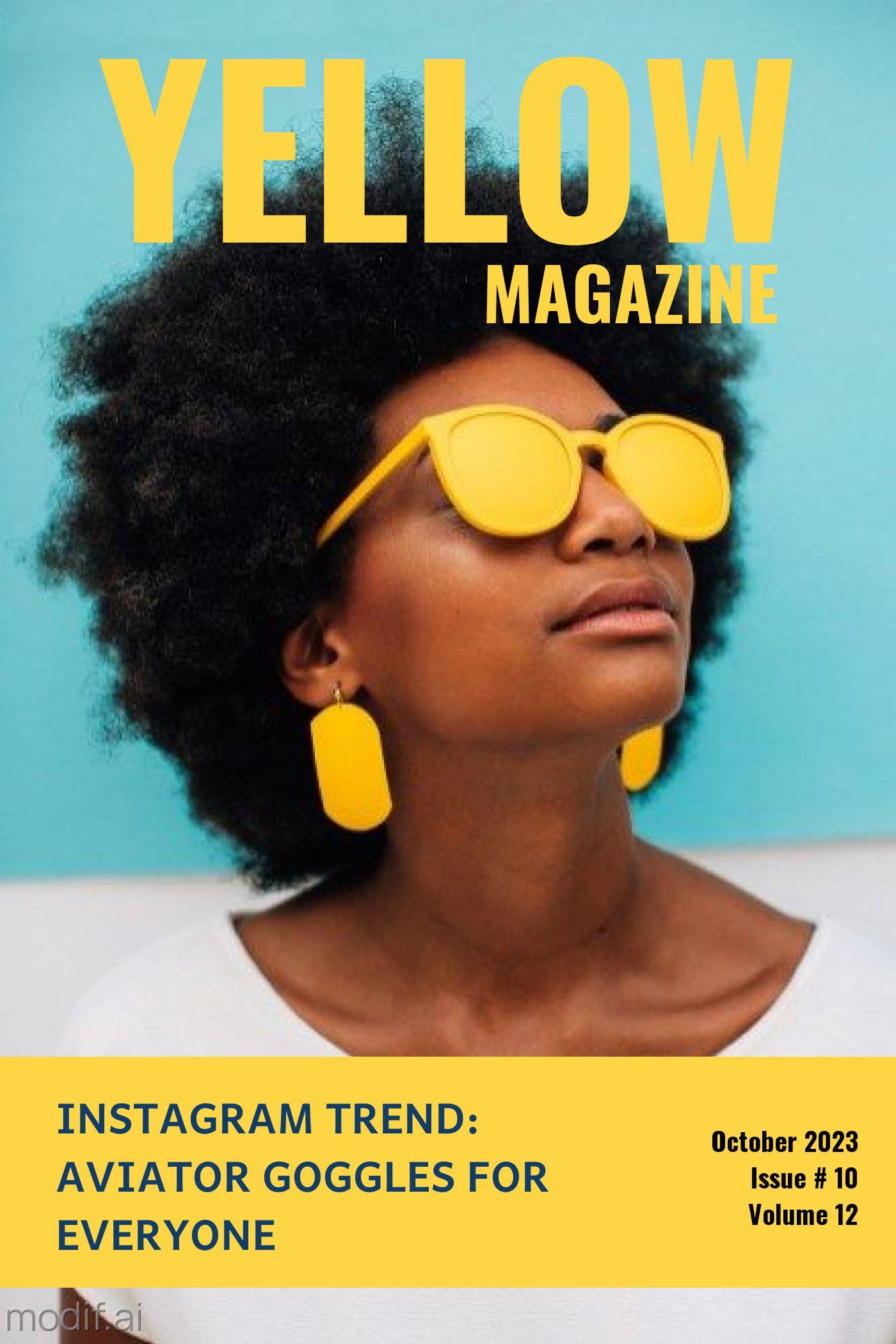 Yellow Magazine Cover Template Design
