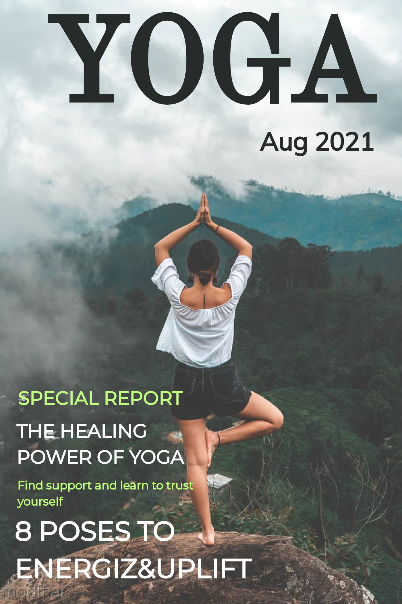 Yoga Magazine Template Design