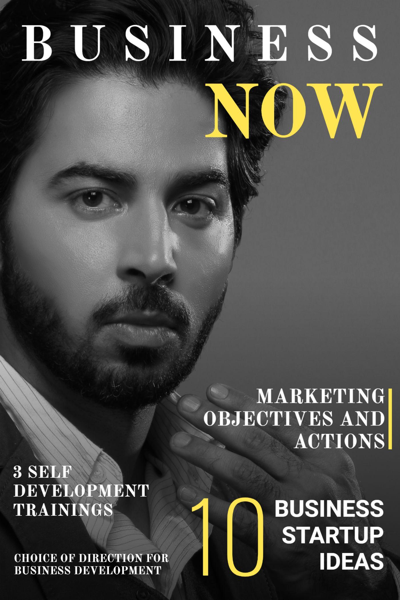 Business Development Magazine Cover Template