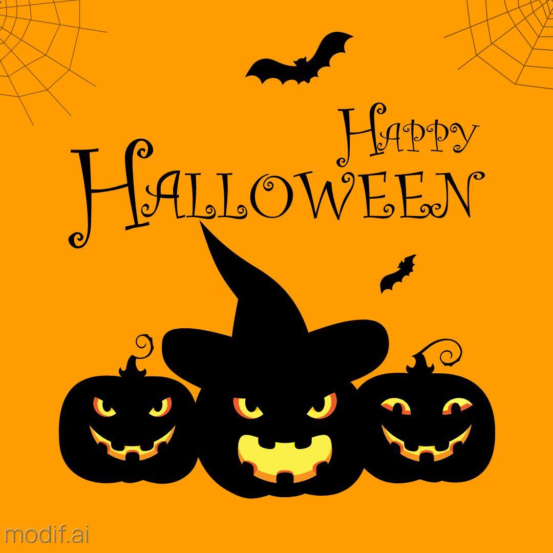 Scary Pumpkin Halloween Template