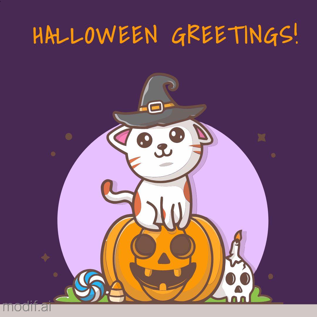 Halloween Greetings Card Template
