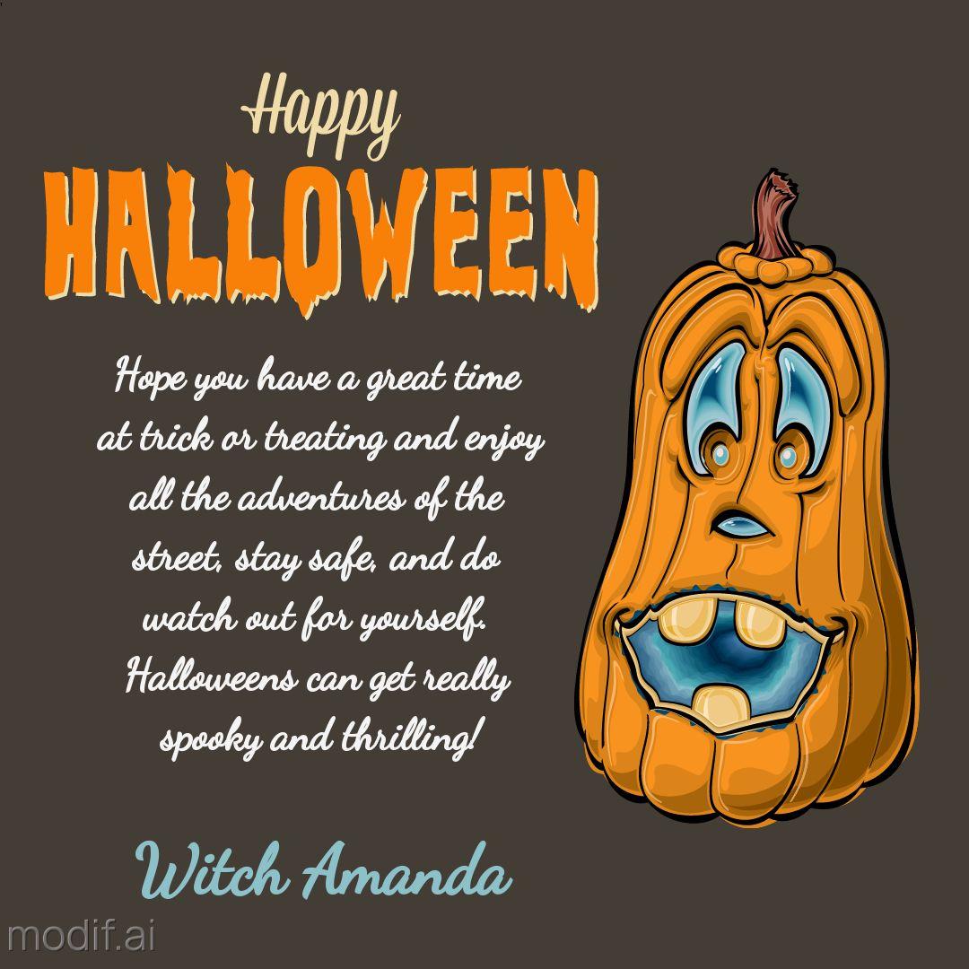 Halloween Wishes Card