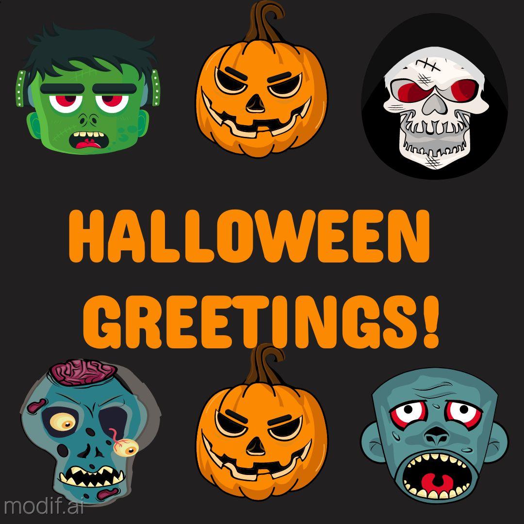 Halloween Greetings Design Template