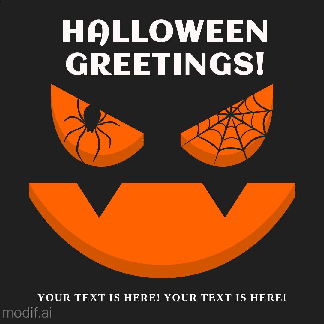 Horror Pumpkin Design Template