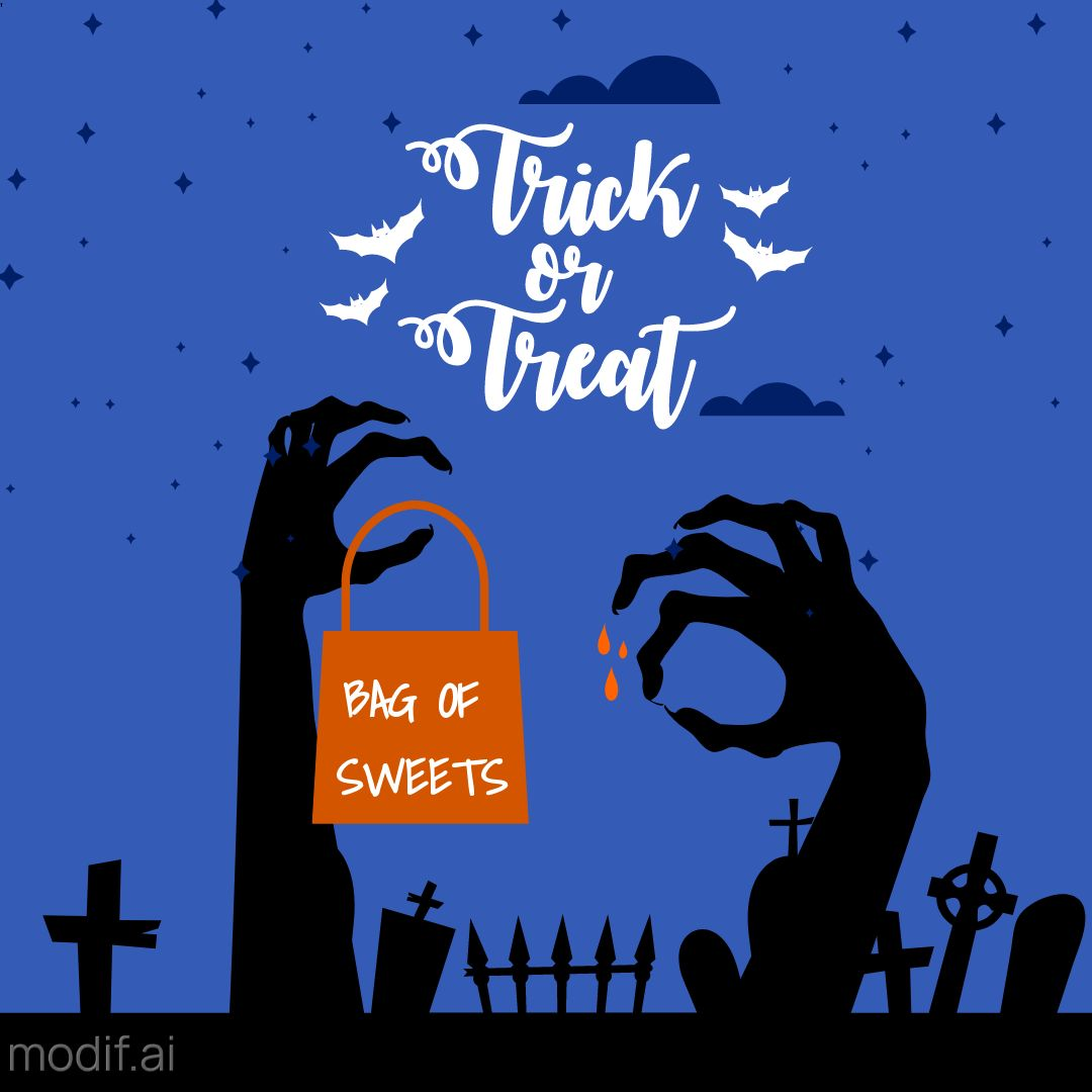 Trick or Treat Design Template