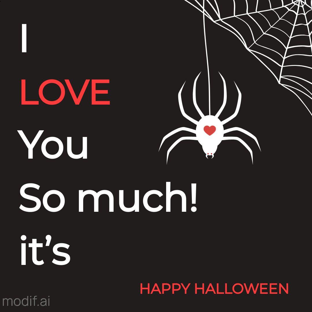 Spider Love Template Design