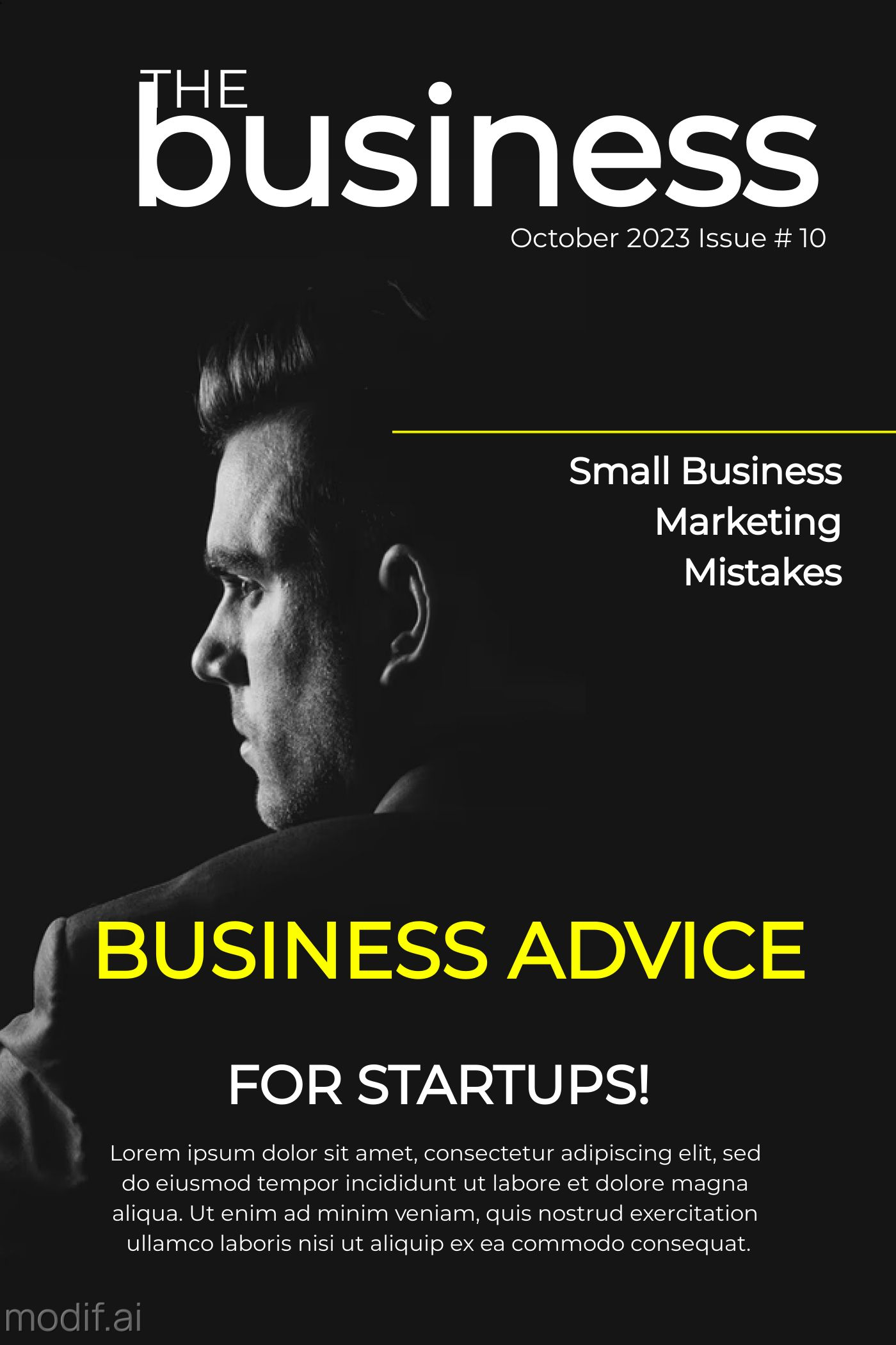 The Business Magazine Cover Template