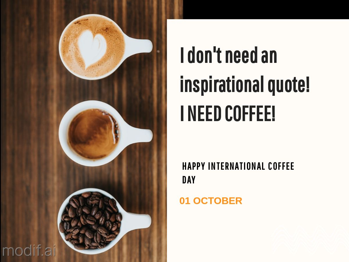 International Coffee Day LinkedIn Post Template