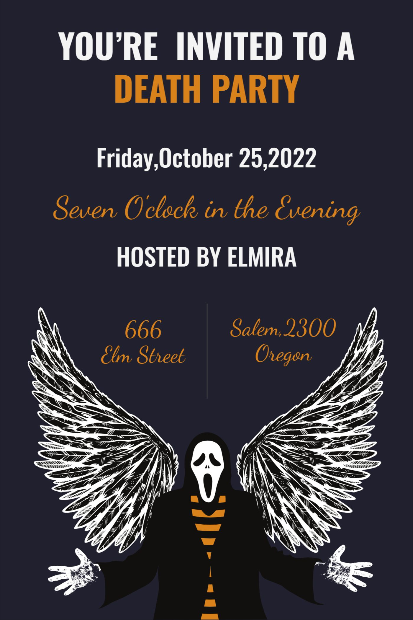 Death Party Invitation Design Template