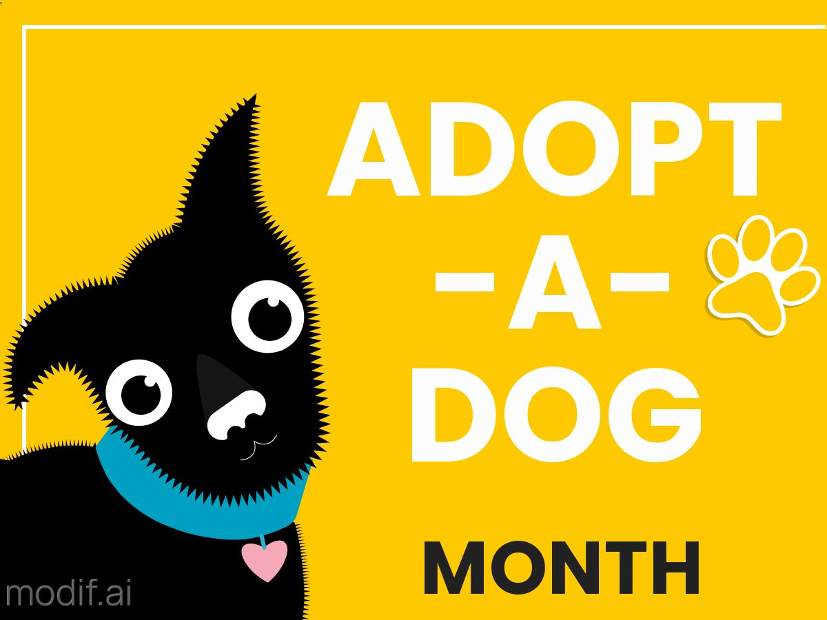 Facebook Post Template Adopt a Dog Month