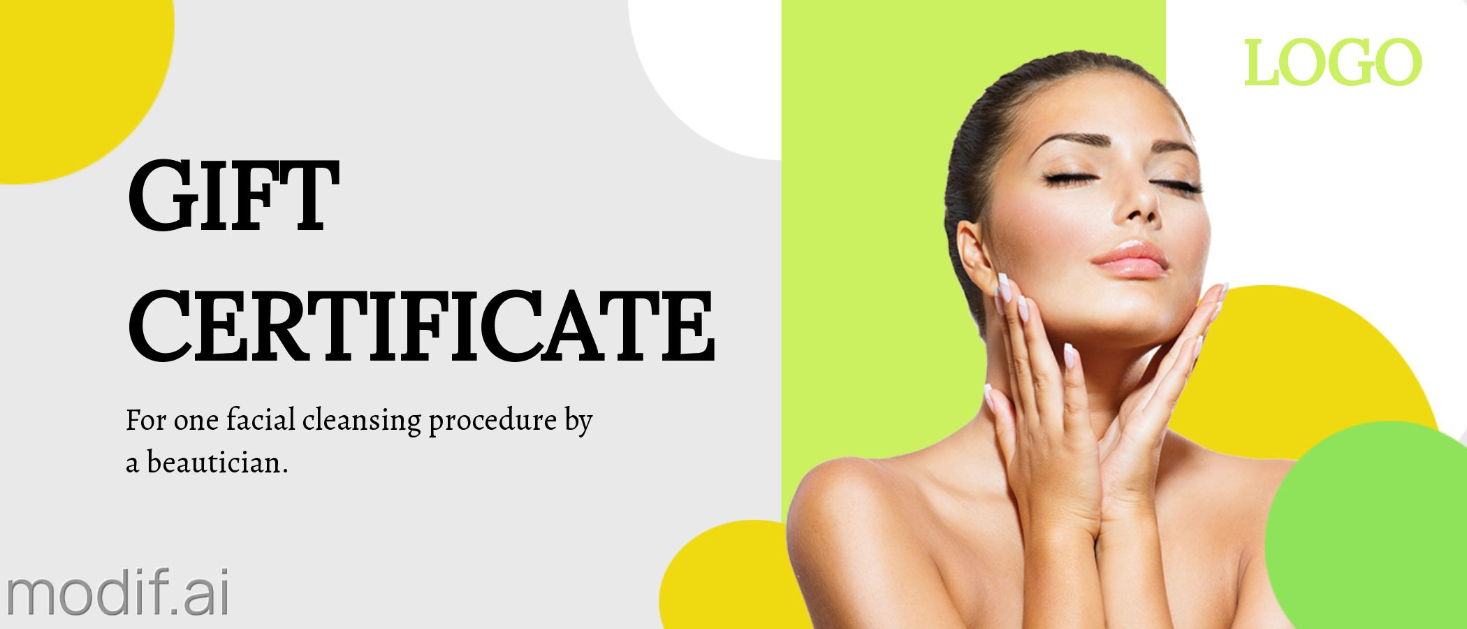 Gift Certificate for a Visit to a Beautician Template