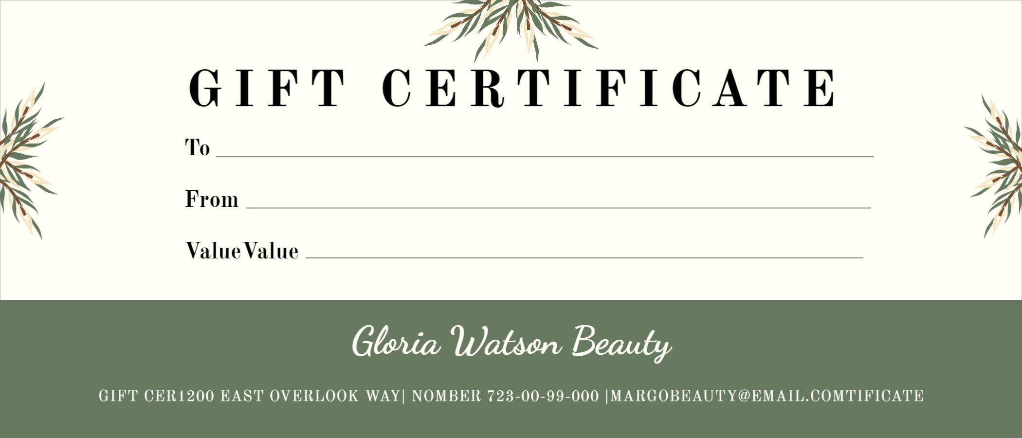 Design Gift Certificate Template
