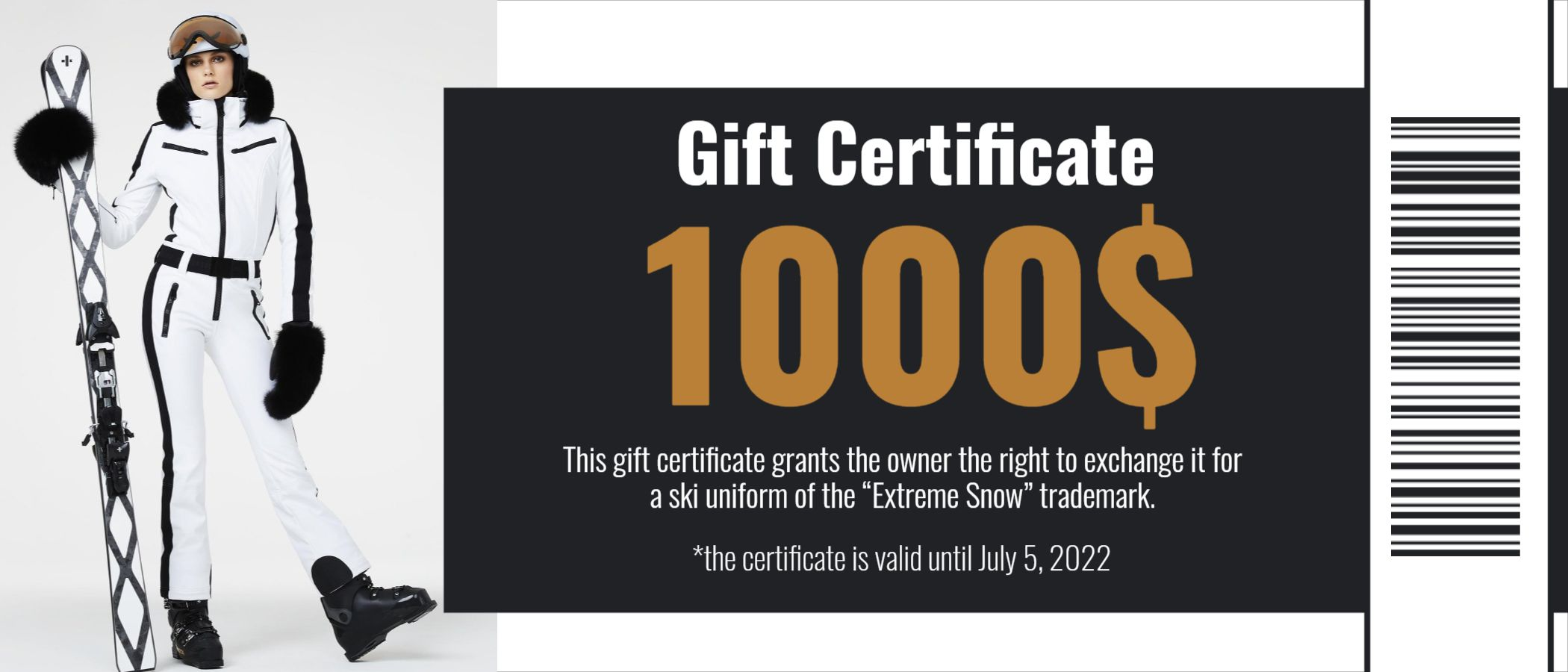 Winter Clothing Gift Certificate Template Design