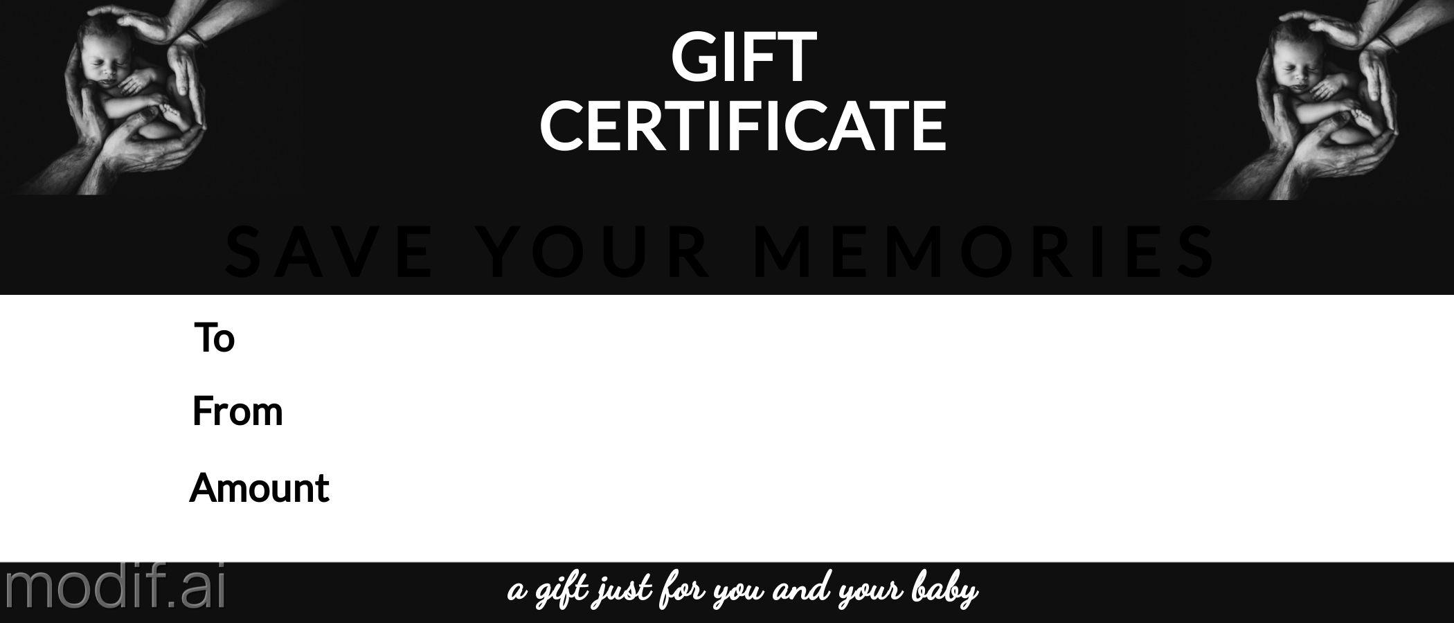Newborn Photography Gift Certificate Design